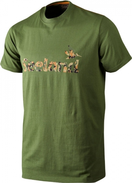 Camo bottle green -koszulka logo Seeland 60% bawełna, 40% poliester