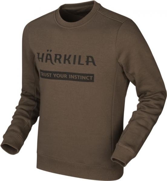 Harkila Bluza Sweatshirt brown - 80% bawełna, 20% poliester