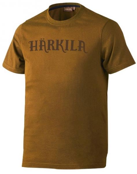 Logo ochre - bawełniana koszulka z logo Harkila ROZM S, 5XL