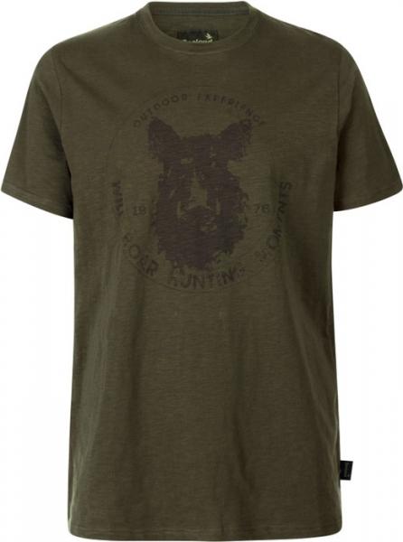 Flint T-shirt kolor oliwka 100% bawełna Seeland
