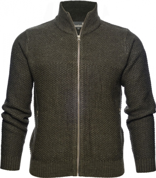 Dyna Knit Seeland - Sweter zapinany na suwak 50% wełna 50% akryl