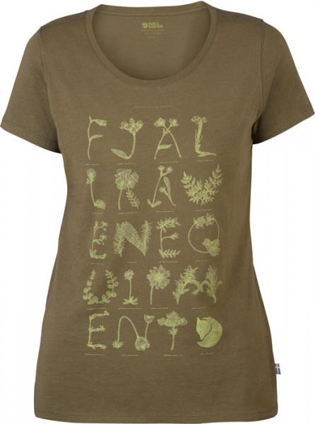 Alphabotanical T-shirt W Fjallraven - koszulka damska