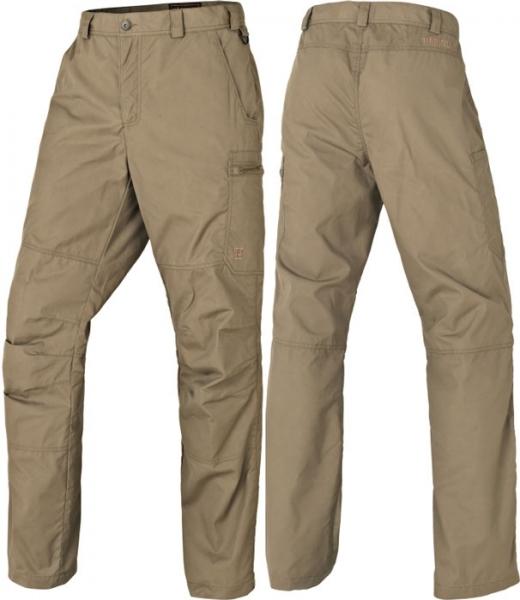 Alvis - lekko woskowane spodnie light khaki Harkila