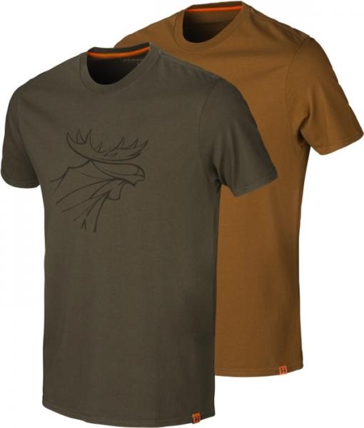 Koszulki letnie graphic 2-pak willow green / clay