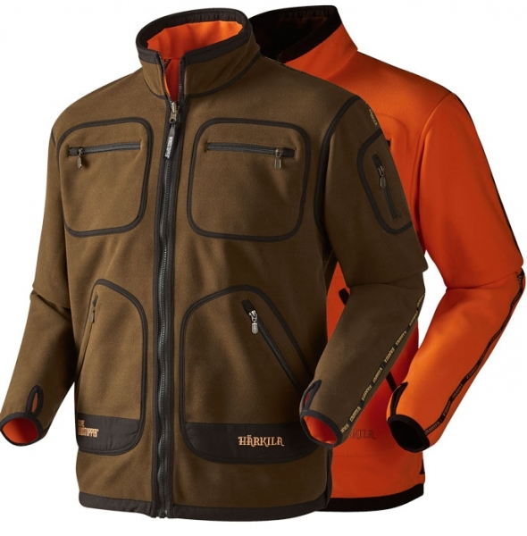 Kamko green/orange - dwustronny polar Windstopper®