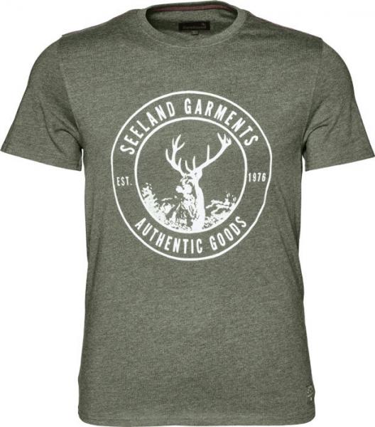 Aiden forest green - letnia koszulka z jeleniem