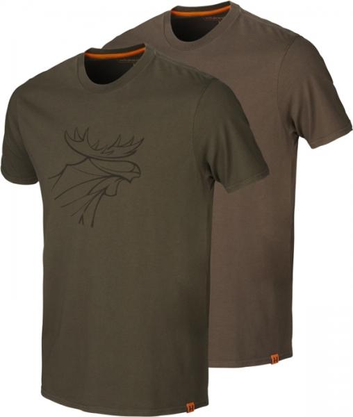 Koszulki letnie graphic 2-pak willow green / slate brown