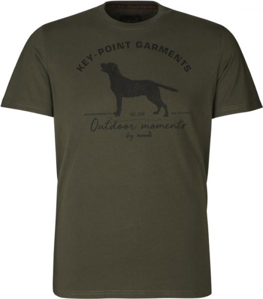 Key-Point t-shirt kolor zielony Seeland 60% bawełna, 40% poliester