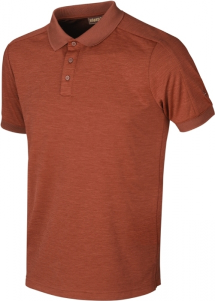 Harkila Tech Polo shirt burnt orange