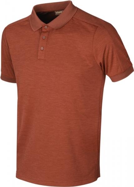 Harkila Tech Polo shirt burnt orange