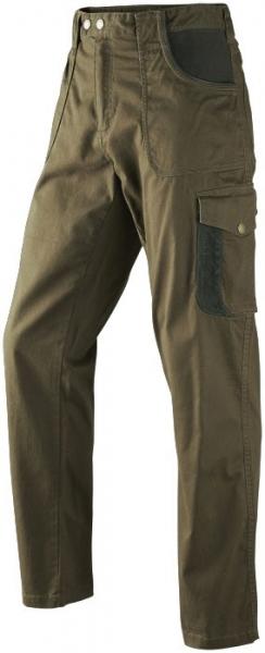 Bawełniane spodnie Conor Seeland ze skórzanymi wstawkami ROZ 50,58,60