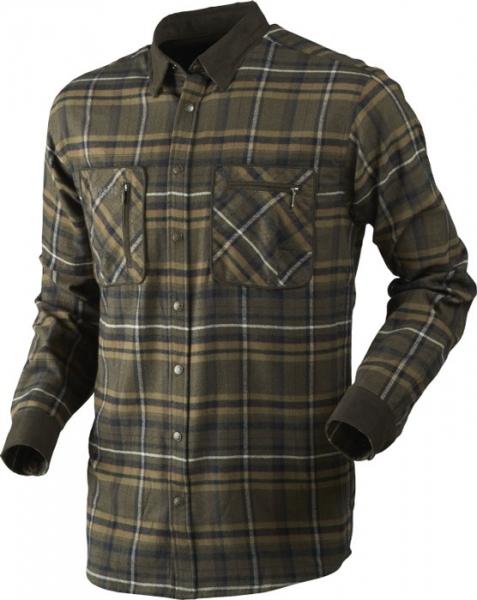 Pajala willow green - ciepła flanelowa koszula rozm do 5XL!