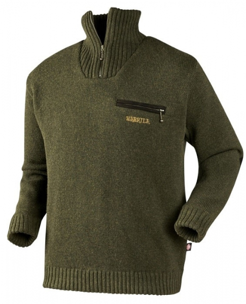 Sweter Annaboda Jersey forest green Windstopper®