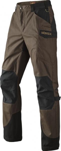 Letnie woskowane spodnie ze streczem Gevar brown