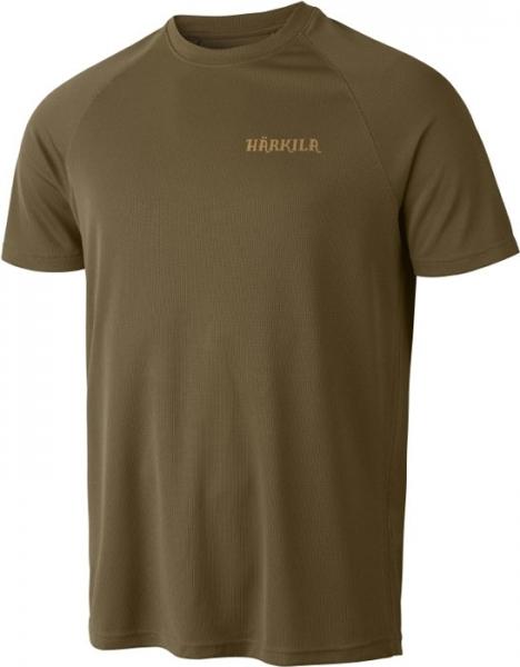 Herlet Tech light khaki - techniczny T-shirt Harkila