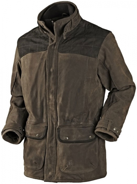 Zimowa kurtka skórzana Angus ciepła satynowa podszewka