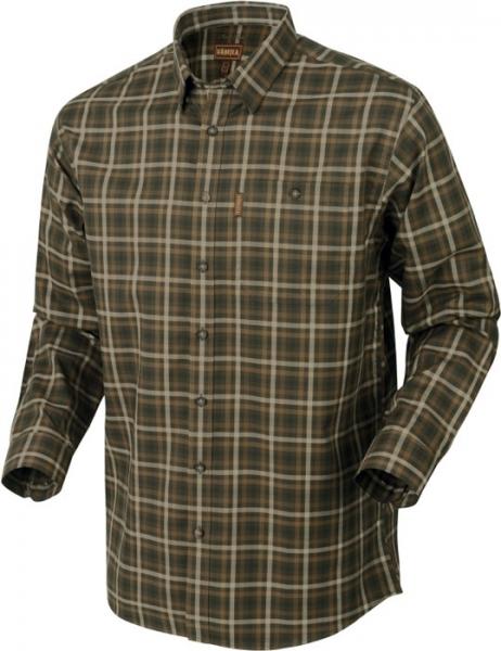 Milford willow green - koszula z długim rękawem 100% bawełna easy iron Harkila
