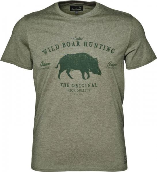 Aiden duffel green -letnia koszulka z dzikiem