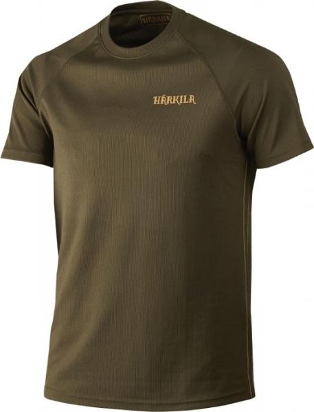 Herlet Tech willow green - techniczny T-shirt Harkila