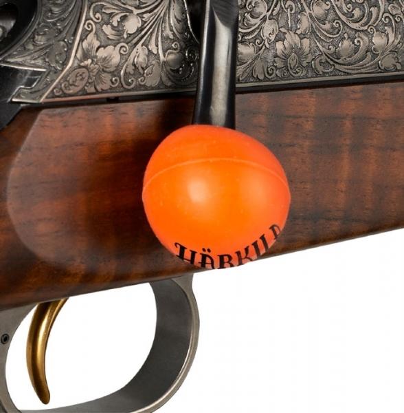 Kulka gumowa na zamek Harkila kolor pomarańczowy i czarny