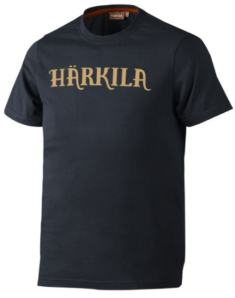 Logo blue graphite - bawełniana koszulka z logo Harkila do 5XL