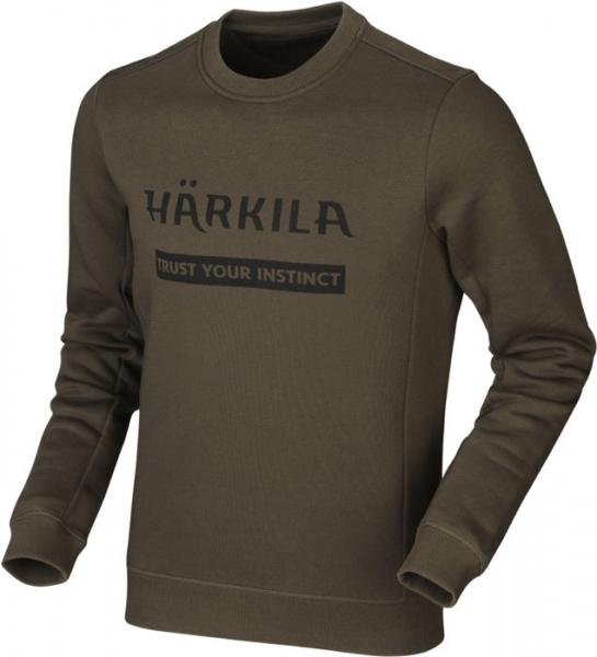 Harkila Bluza Sweatshirt green - 80% bawełna, 20% poliester