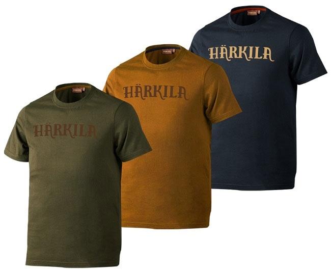 Zestaw trzech koszulek Logo Harkila rozmiary do 5XL