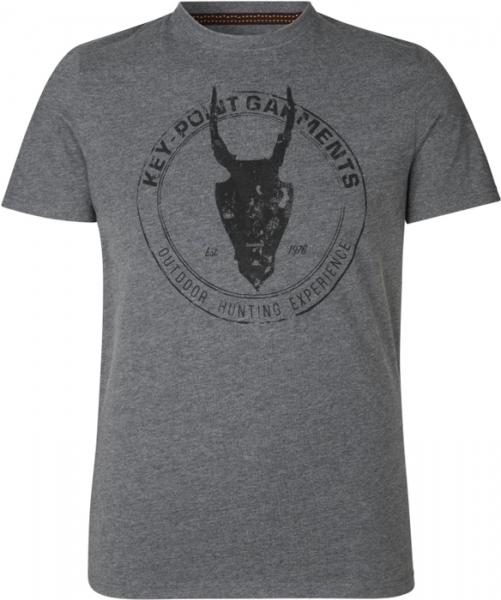 Key-Point grey - bawełniana koszulka rozm do 3XL! 60% bawełna 40% poliester