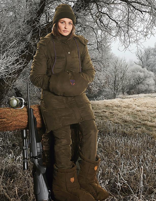 Ocieplana długa kurtka damska Hubertus