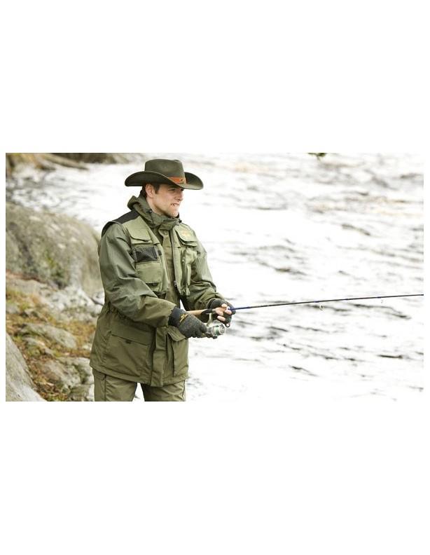 Fishing - zestaw wędkarski kurtka i spodnie z szelkami