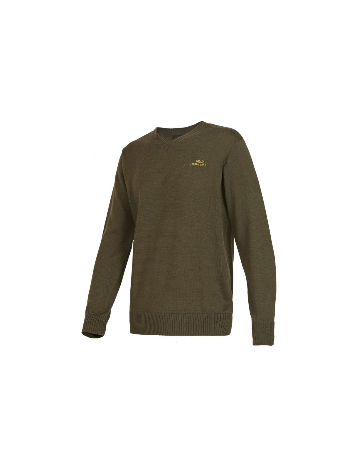 Abel klasyczny sweter z wycięciem w serek ROZM 48