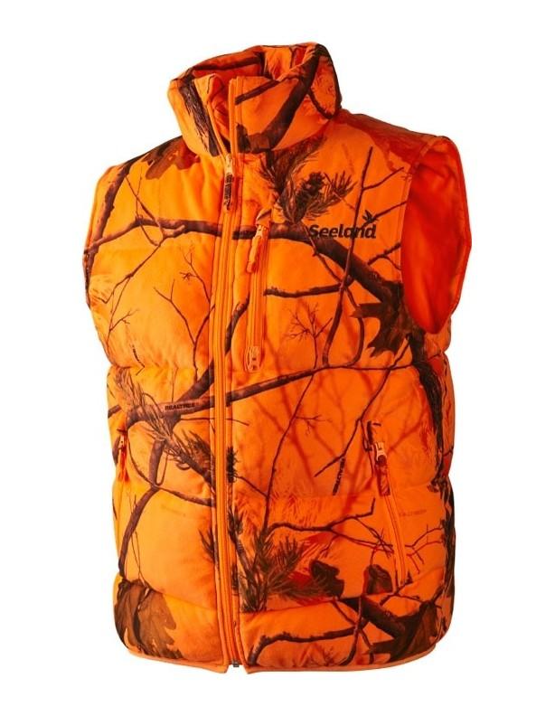 Yukon orange - ciepła kamizelka Seeland