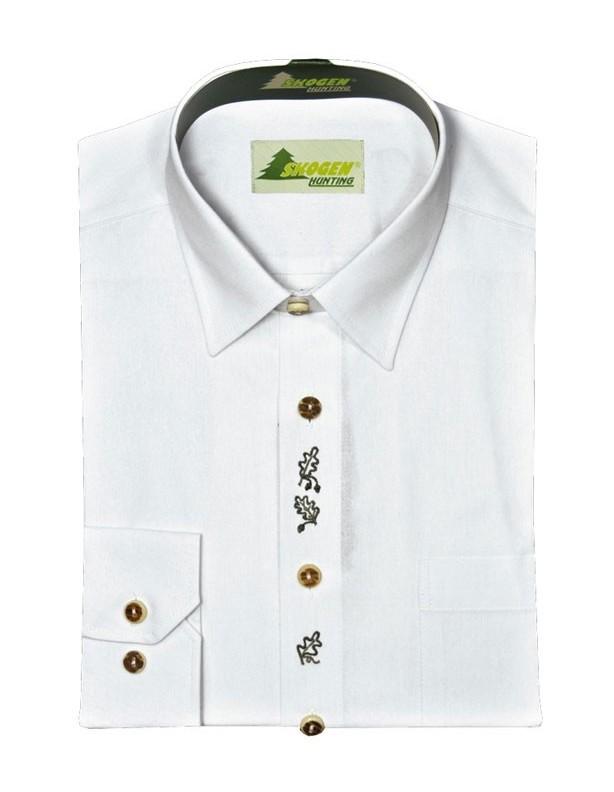 Elegancka koszula myśliwska liść dębu