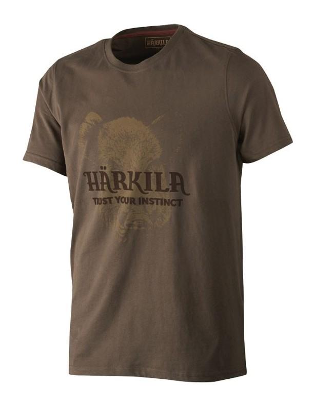 Odin demitasse brown - bawełniana koszulka z dzikiem ROZMIAR L