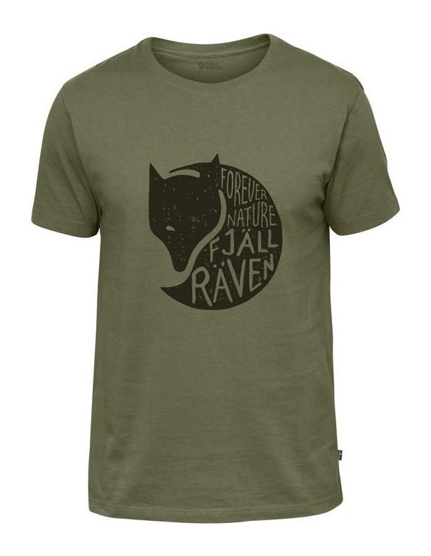 Forever Nature Green - bawełniana koszulka z liskiem M
