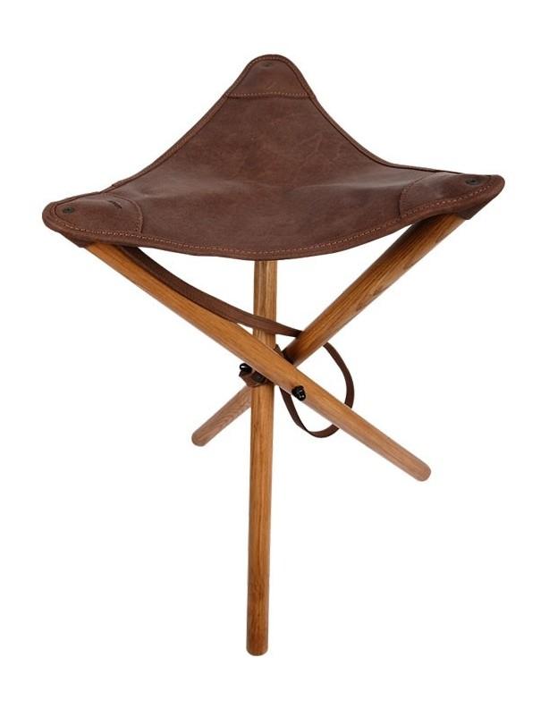 Stołek myśliwski Komfort - ze skórzanym siedziskiem