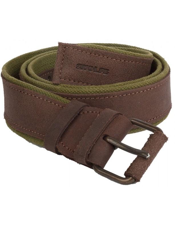 Forest - materiałowo-skórzany pasek do spodni