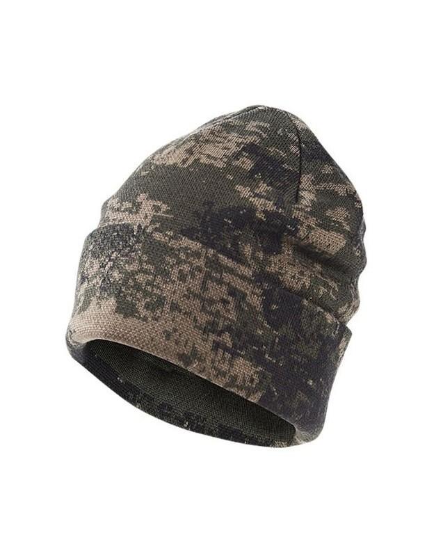 Ciepła wełniana czapka kamuflaż BlindTech Invisible®