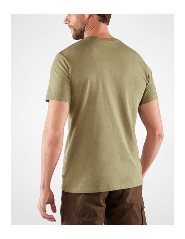 OWL T-shirt Green - bawełniana koszulka z sową Fjallraven