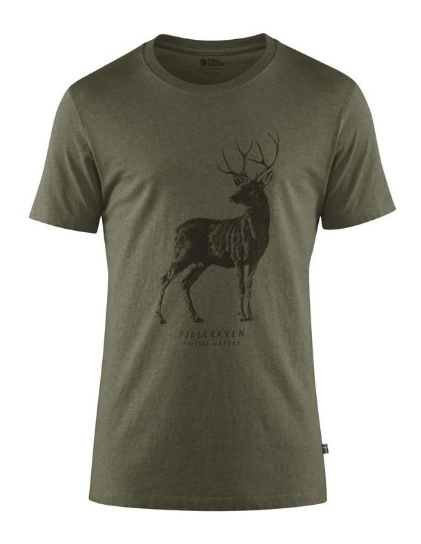 Deer T-shirt Tarmac - bawełniana koszulka z jeleniem Fjallraven M,XXL