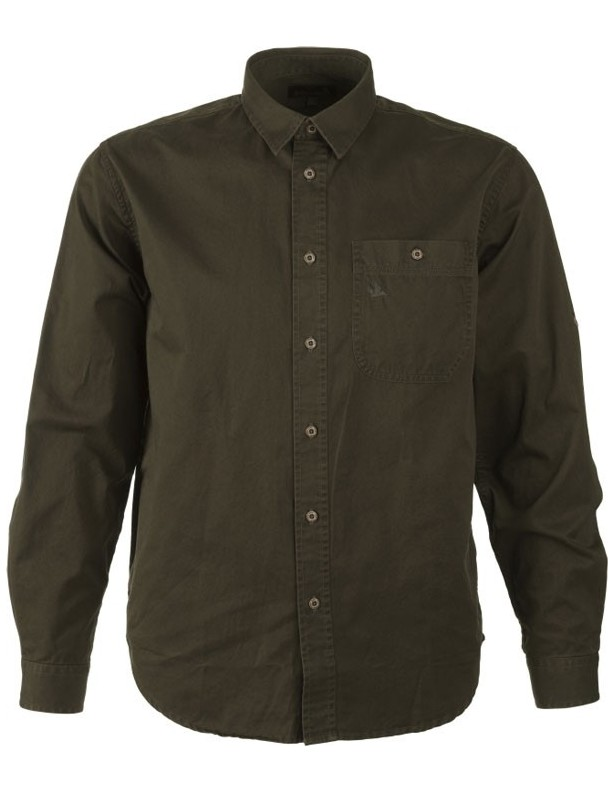 Flint olive - koszula bawełniana Seeland ROZM L