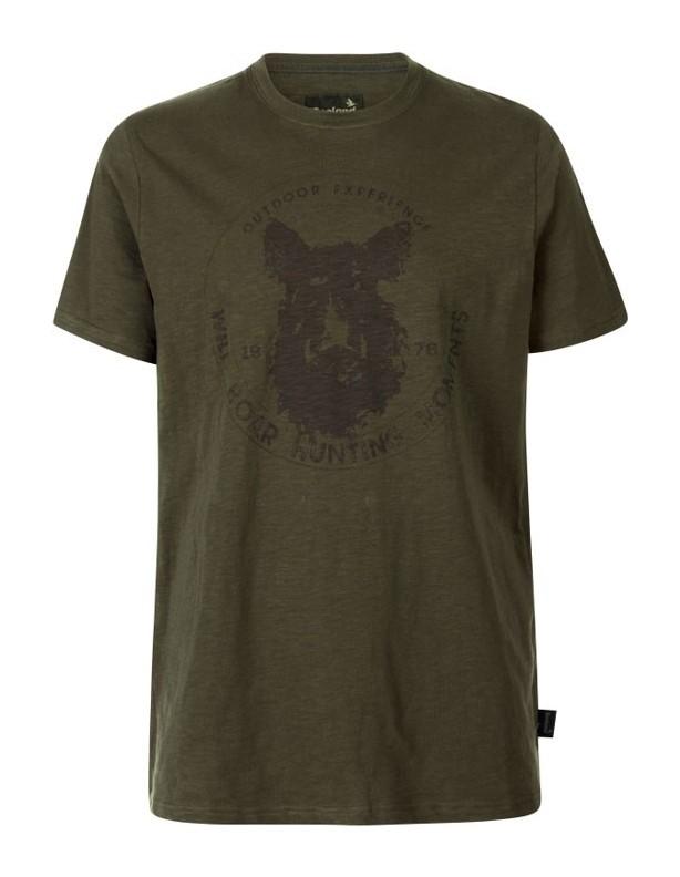 Flint T-shirt kolor oliwka Seeland ROZMIAR L