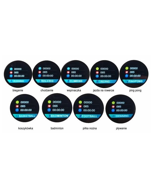 Kenys V5 zegarek/smartwatch wodoodporny z pomiarem EKG - pasek czarny