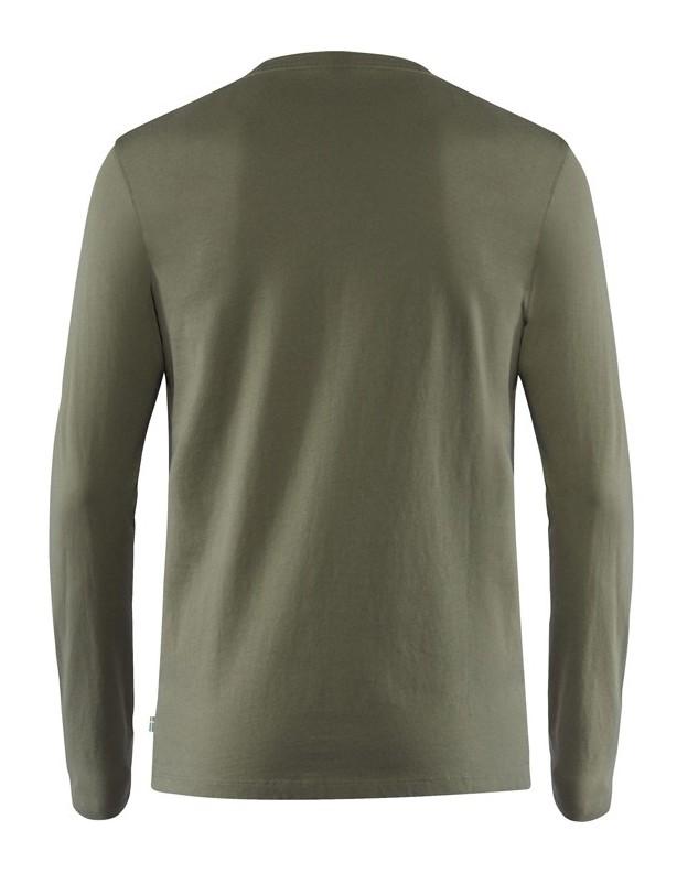Forever Nature Badge L/S tarmac - koszulka bawełniana ROZM M