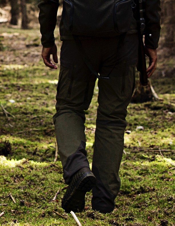 Ingels - letnie spodnie ze streczem zielone
