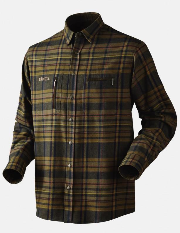 Eide - ciepła koszula flanelowa, kolor dark olive ROZM S,L,3XL