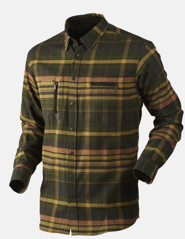 Eide - ciepła koszula flanelowa, kolor shadow brown