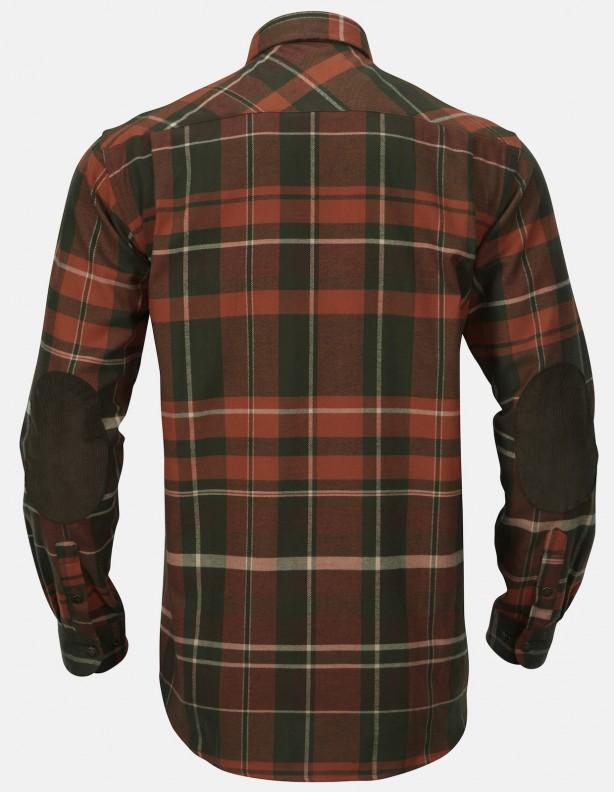 Eide - ciepła koszula flanelowa, kolor rusty check ROZMIAR DO 5XL!