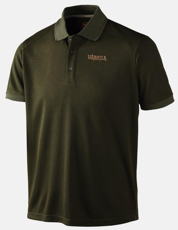 Gerit dark olive - techniczna koszulka polo ROZM L
