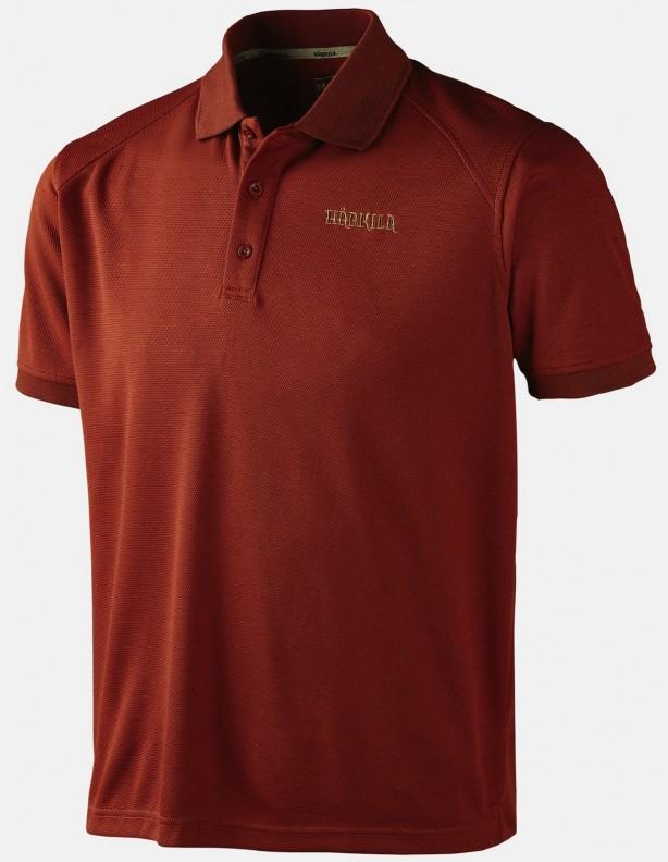 Gerit burnt orange - techniczna koszulka polo